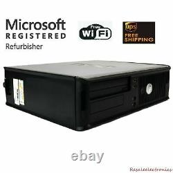 Hp or Dell Desktop PC Computer Dual Core 4GB RAM DUAL 19 LCDs WiFi Windows 10