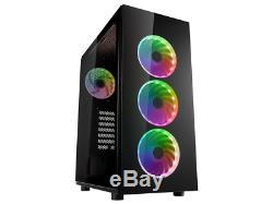 Intel Core i7 4.2GHz, 32GB RAM, GTX 1060, SSD, RGB VR Desktop Gaming PC Computer