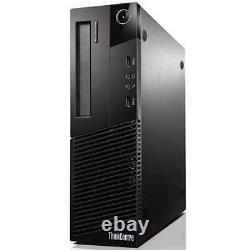 LENOVO Desktop PC Computer Core i3 4GB RAM DUAL 20 LCDs WiFi Windows 10
