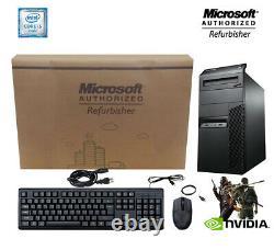 Lenovo M91P Gaming PC 500GB Nvidia HDMI 3.2Ghz 16GB RAM WiFi Win 10 Computer