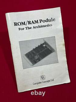 NEW! ROM-RAM Podule Computer Concepts for Acorn Archimedes, A5000, Risc PC