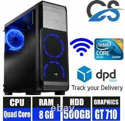 Office Pc Computer Tower Pc Intel Core 2 Quad 8gb Ram 2gb Nvidia Gt710 500gb Hdd