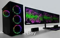 Triple Screen TFT Gaming RGB PC Computer i7 16 GB Ram SET SSD HDD GTX 1060 1660