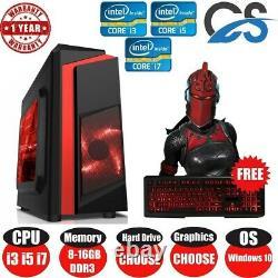 ULTRA FAST i3 i5 i7 Desktop Gaming Computer PC 2TB 16GB RAM GTX 1660 Win10 Lot
