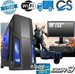 ULTRA FAST i5 Desktop Gaming Computer PC 1TB 8GB RAM GT710 KEYBOARD MOUSE SCREEN