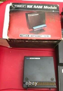Vintage Timex Sinclair 1000 Computer 1016 Ram Module Manual 3 Software Cassettes
