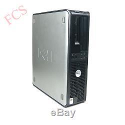 Windows 7 Full Dell Computer Desktop Tower Set Pc 4gb Ram 160gb Hdd Wifi Bargain